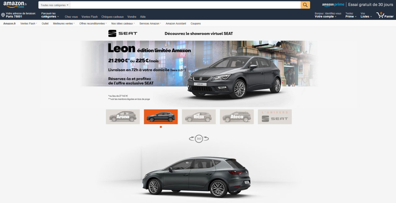 showroom vitruel seat et amazon