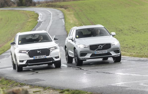 DS7 crossback face au volvo xc60