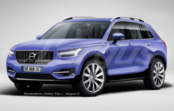 illustration futur Volvo XC60 2017 vue avant