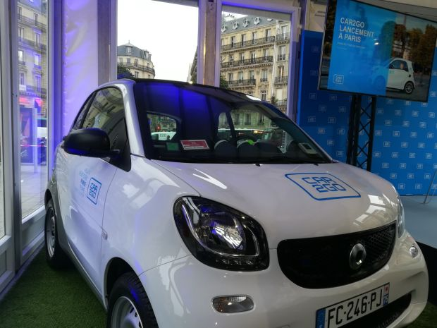 Car2go Paris Daimler autopartage Autolib'