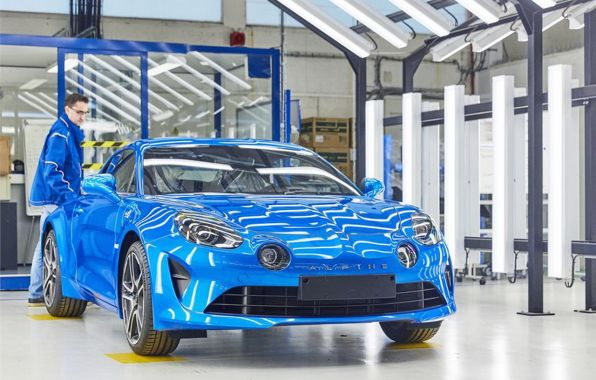 production alpine a110 usine de dieppe
