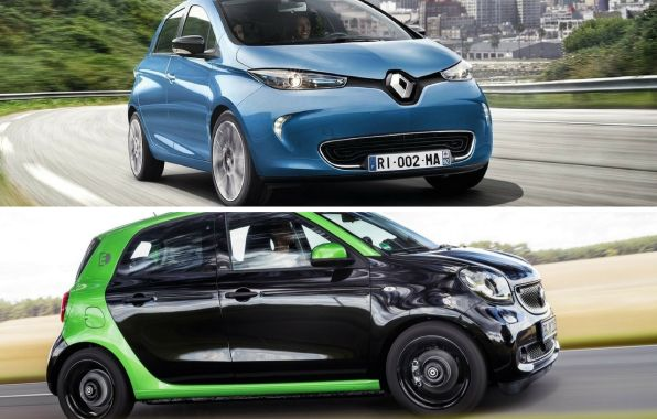 renault zoé vs smart forfour ed