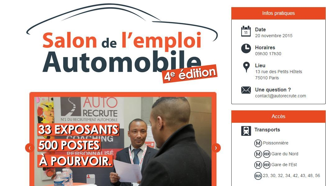 photo le salon de l 39 emploi automobile aura bien lieu le 20